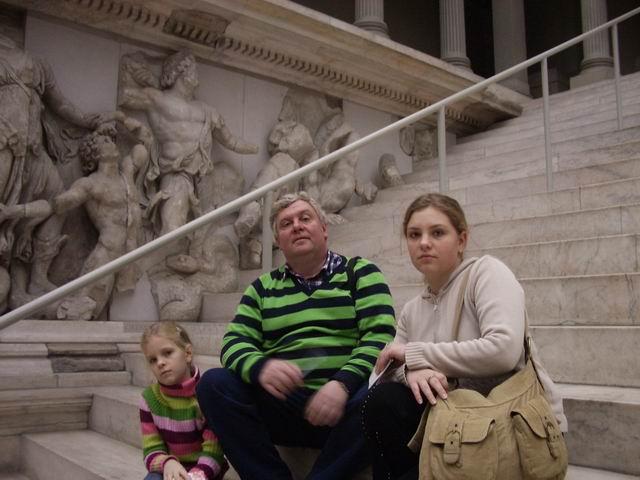 мы на лестнице у храма Зевса в Пергане