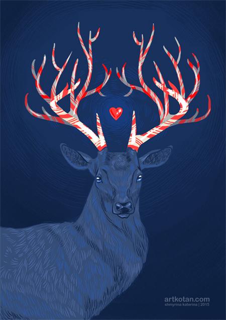 cristmas deer слитый копия