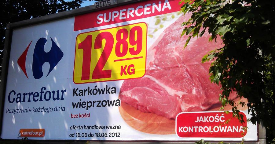 Реклама мяса в Польше