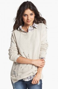 Distressed Sweater (Juniors)