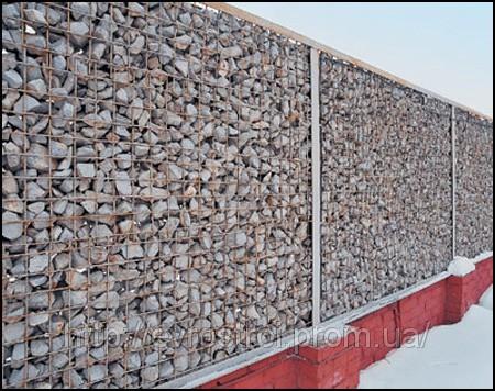 Фото забор из сетки с камнями своими руками