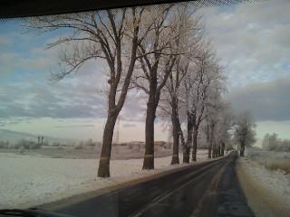 фото из окно авто Зимние дороги