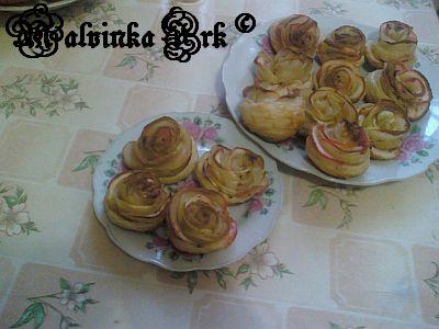 пирожные Яблочные розы