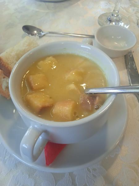 суп тыквенный с гренками