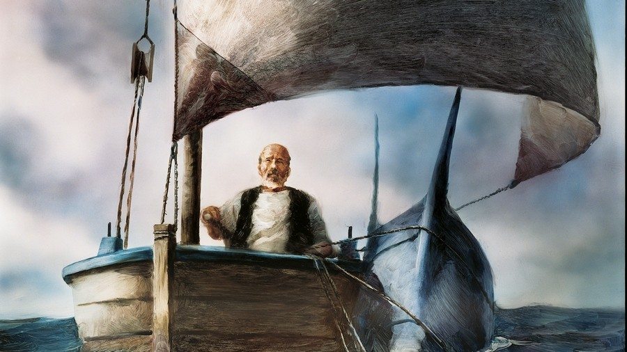 Картинка старик и море хемингуэй