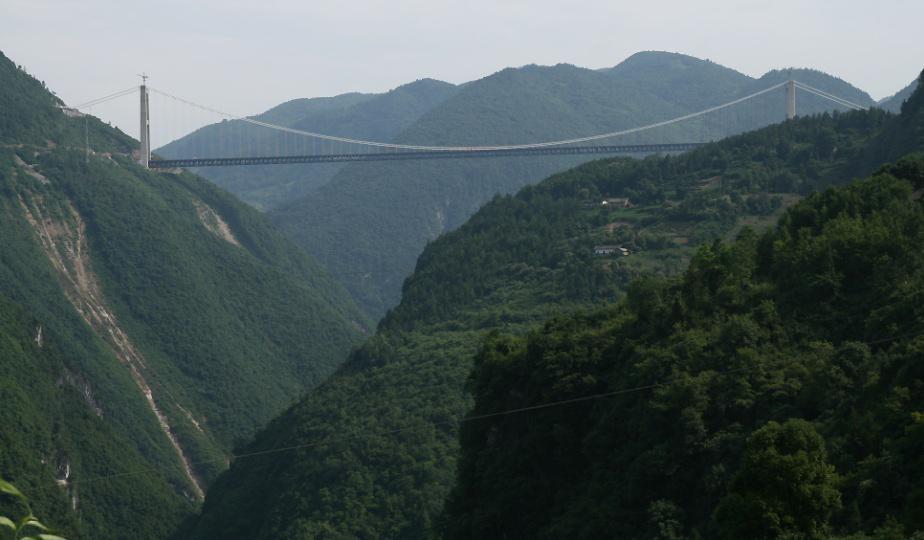 1475Мост  Si Du  River  Bridge    выс. 472 м