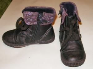 фиолеовые ботинки