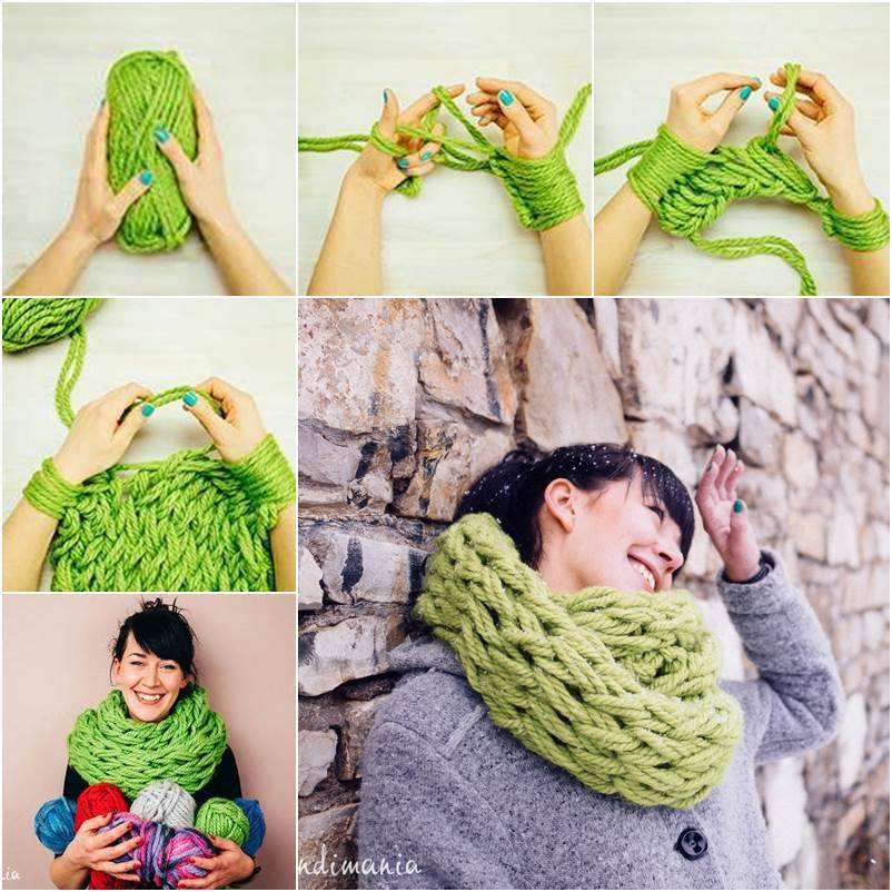 Связать шарф спицами своими руками