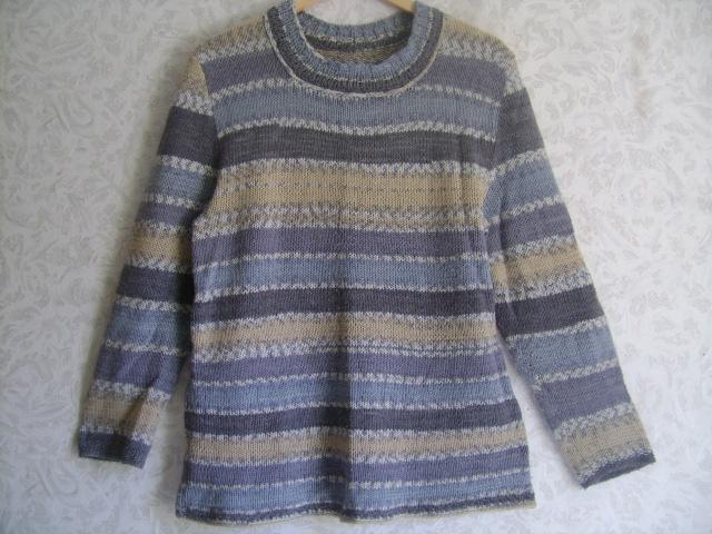 свитер серо-гол. полоска