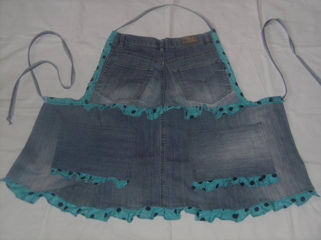 фартук из джинс