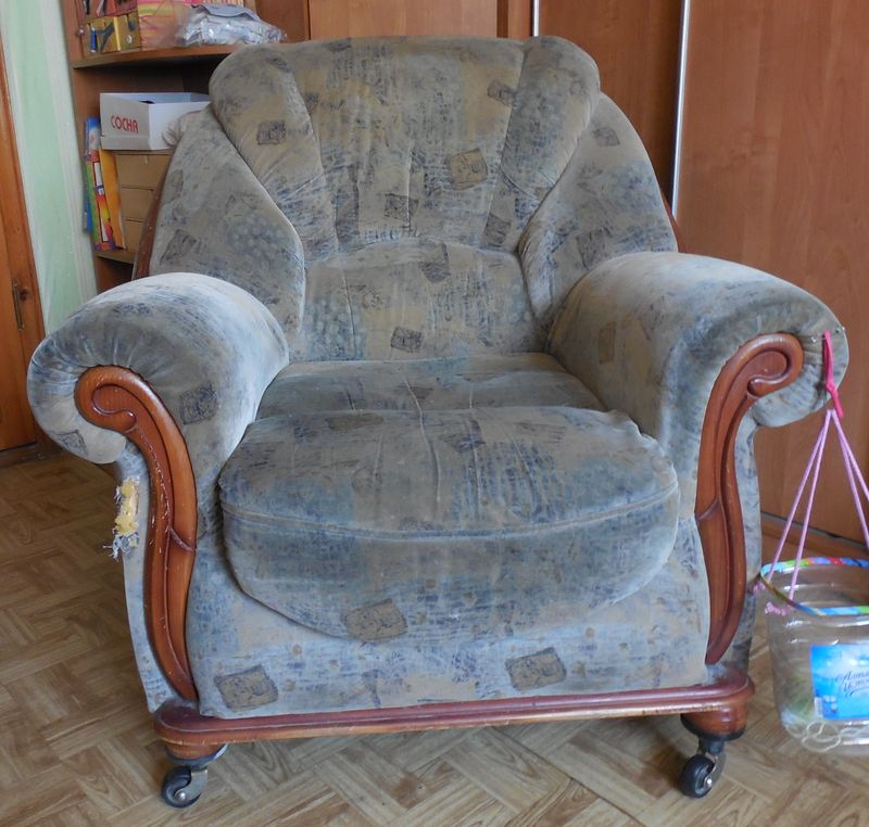 Как изменить старое кресло своими руками 50