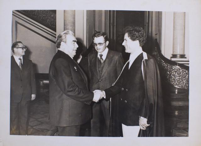 Каддафи и Брежнев