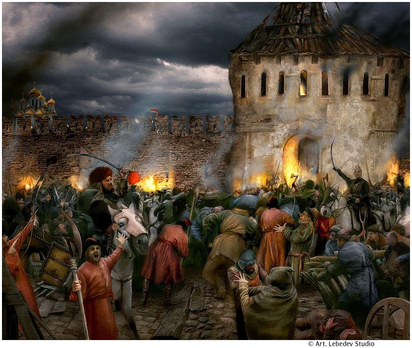 за Москву в 1612 году. Эскиз к музею-панораме