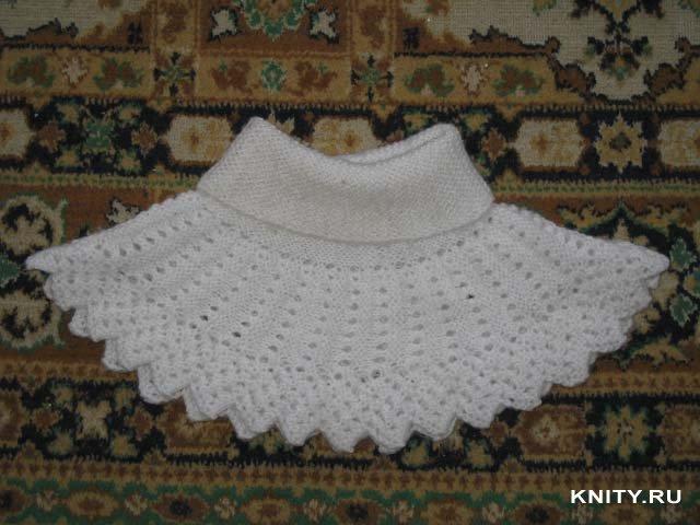 шарф-манишка спицами<br />