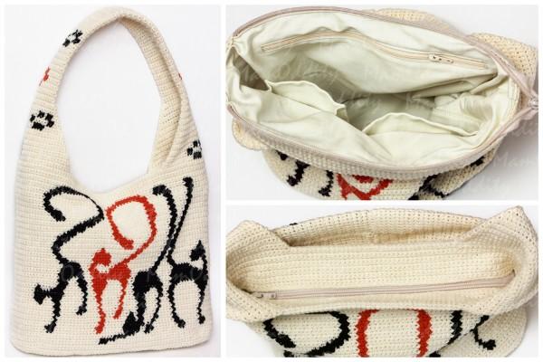 d70f4c499797 Рассказываю, как связать сумку-мешок с рисунком. Мне такой тип сумок очень  нравится. Если вам тоже, тогда этот мастер-класс для вас.
