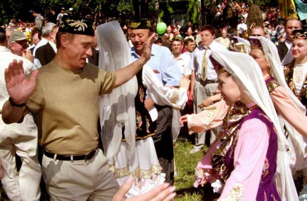 Путин на Сабантуе в 2000 году