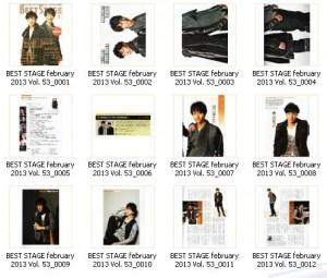 Preview BEST STAGE february 2013 Vol. 53