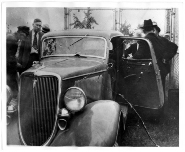 Clyde Barrow and Bonnie Parker's Bullet Hole-Ridden V8 Ford