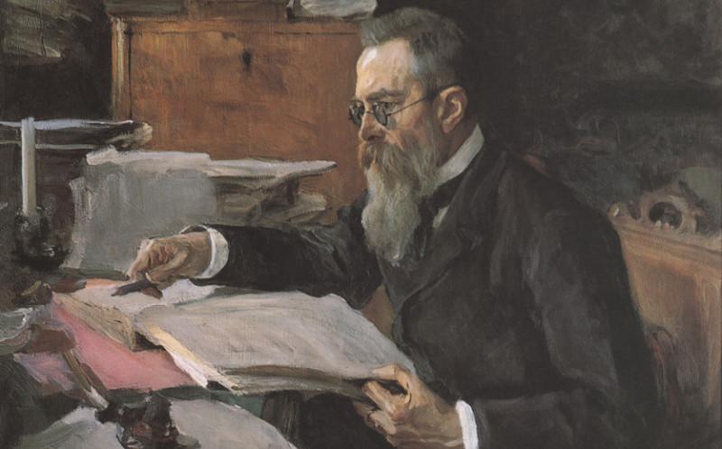 В. А. Серов. Портрет Н. А. Римского-Корсакова, 1898.
