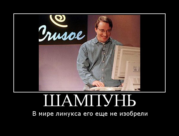 Линус, помой башку!