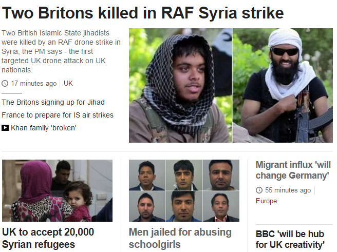 bbc front page