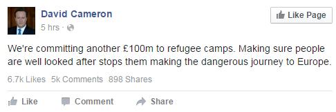 cameron refugees
