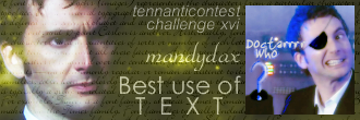 Best Use of Text, Challenge 16, tenanticontest