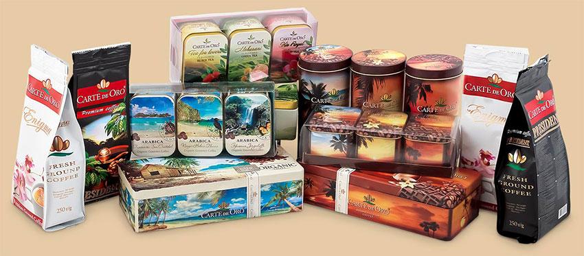 Упаковки с чаем