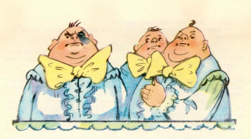 Рисуем три толстяка