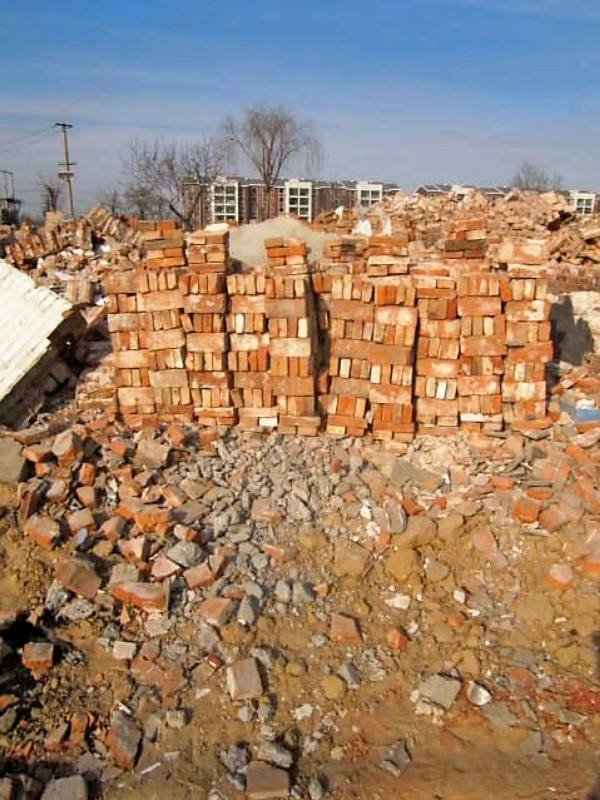 Bricks stacked