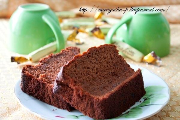 шоколадно банановый кекс рецепт с фото
