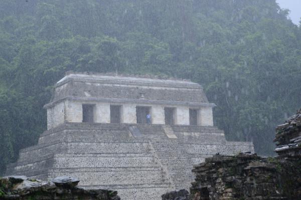 Lluvia en Palenque