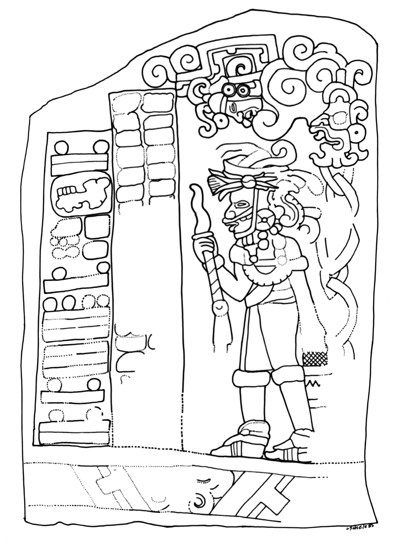 El Baul, Stela 1 (Schele)