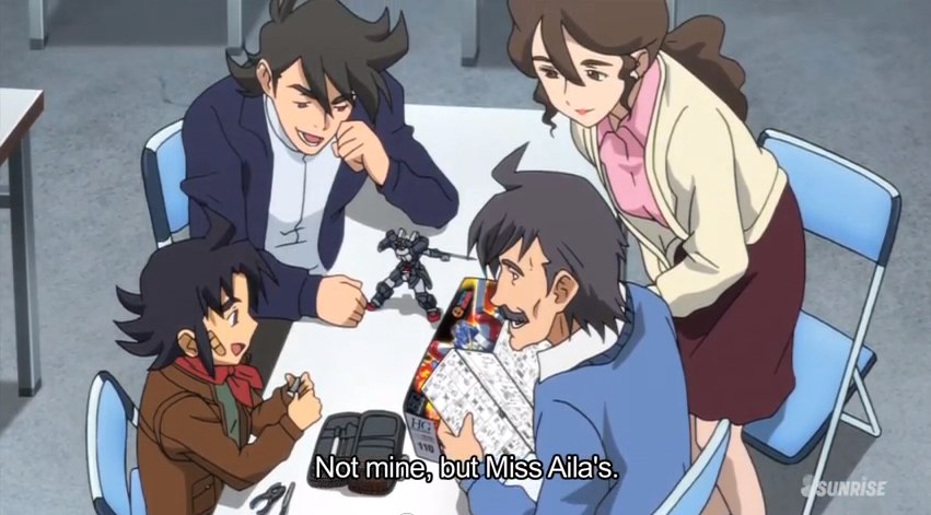 Gundam build fighters ep 23 spot the cameo captain for Domon gundam build fighters