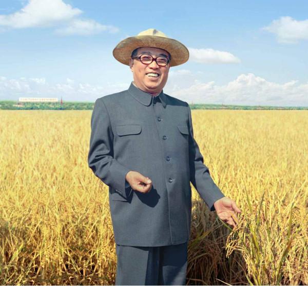 8. Великий Вождь товарищ Ким Ир Сен на поле Самчжиганского сельхозкооператива уезда Чэрён, сентябрь 1976 года