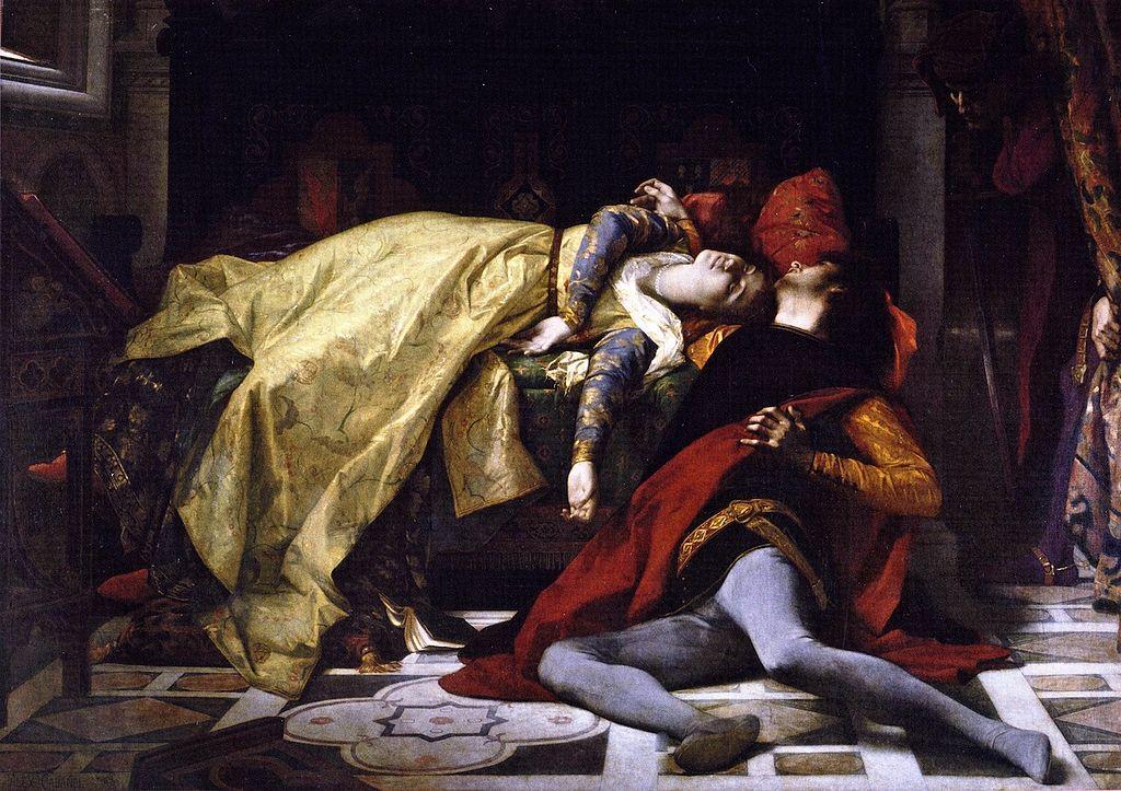 Alexandre Cabanel, Morte di Francesca da Rimini e di Paolo Malatesta, 1870