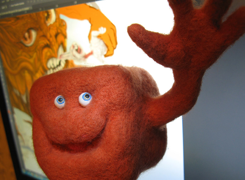 maracubics photo, валяная игрушка из шерсти