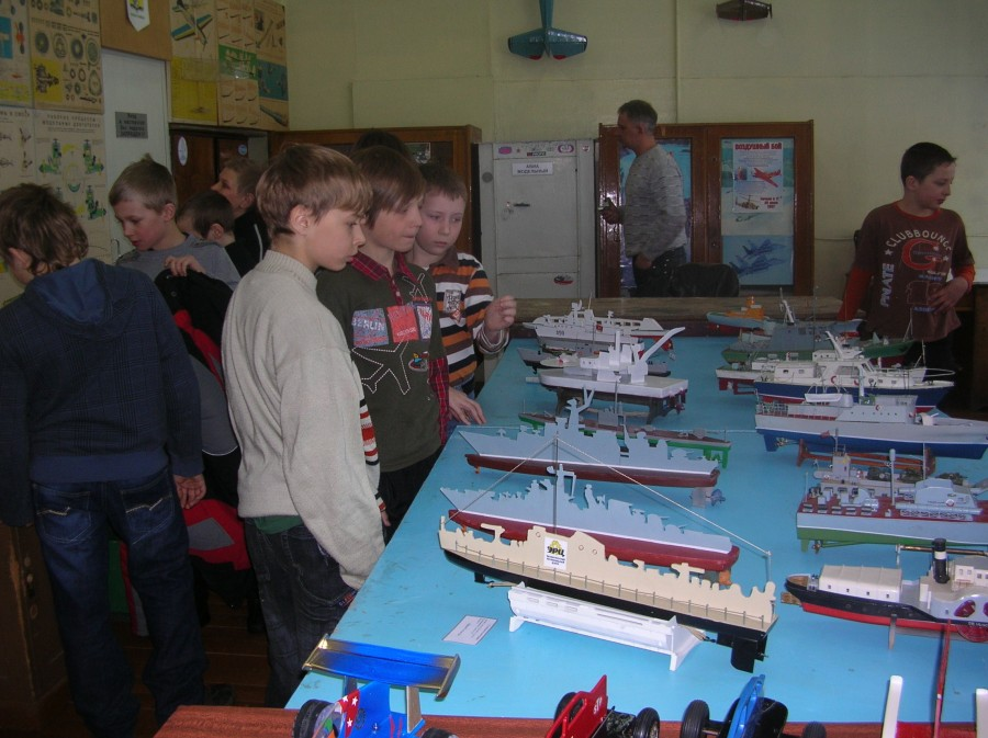 Выставка моделей кораблей