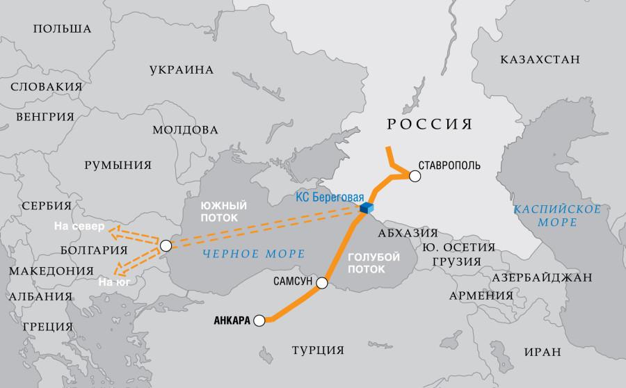 Южный поток -через Турцию