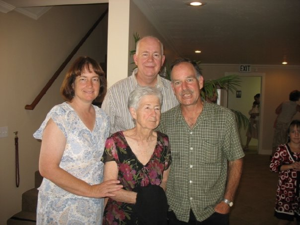 Grammy with Margaret, David, and Dan