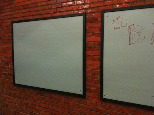 left blank ad panel