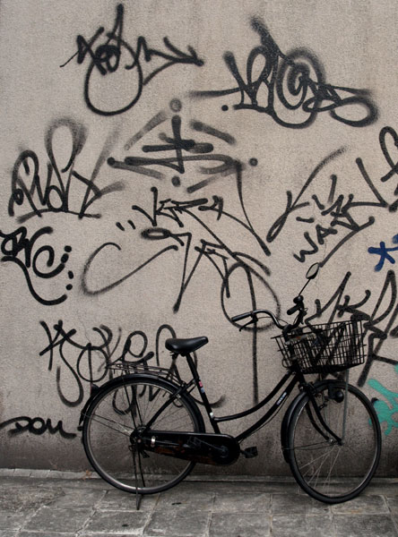 Bike with tags