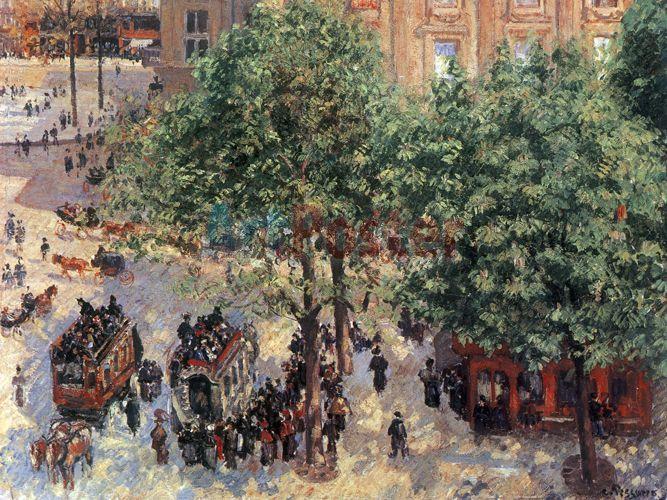 1006_0_empresyonist_empresyonizm_izlenimcilik_canvas_kanvas_dijital_pissarro_camille_ressam_fransiz_fransa_place_du_theatre_francais_1898_tiyatro_kare