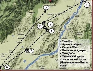 Первые паломники проехали по местам Итигэлова