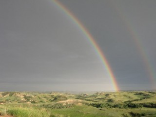 Rainbows over the Little Missouri National Grasslands
