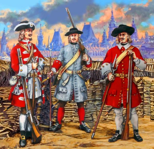 Семь офицеров на двоих рядовых