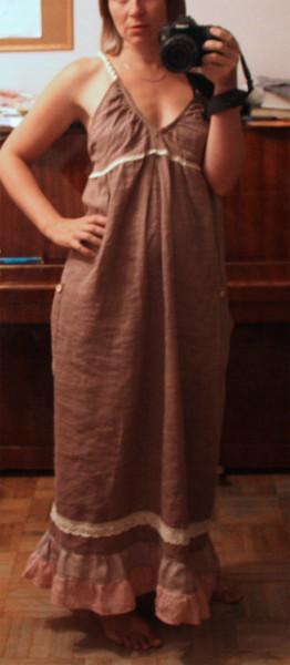 платье корица