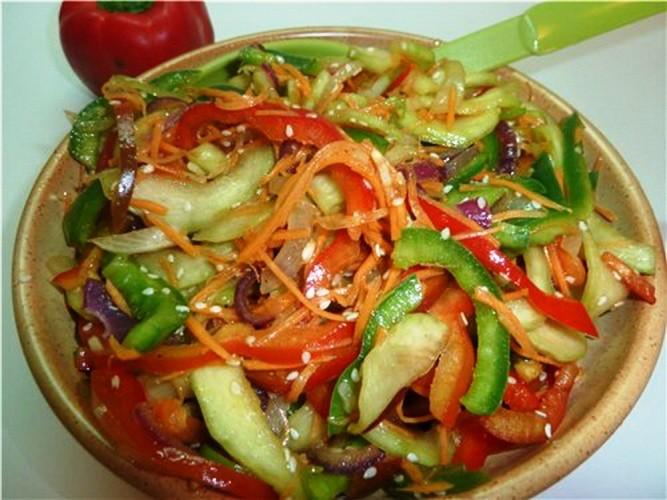 салаты из кабачков по корейски с фото
