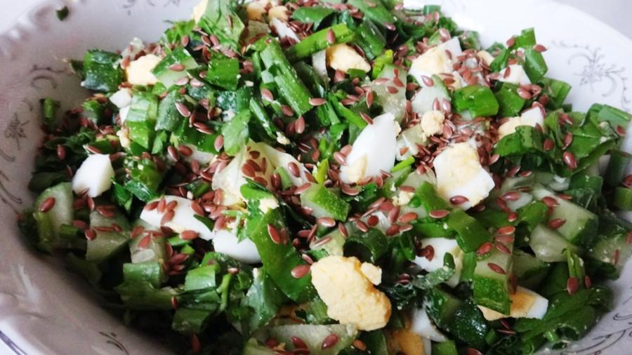 Салат с семенами льна рецепты