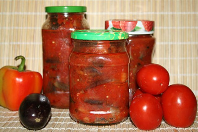 Баклажаны рецепты на зиму в томате